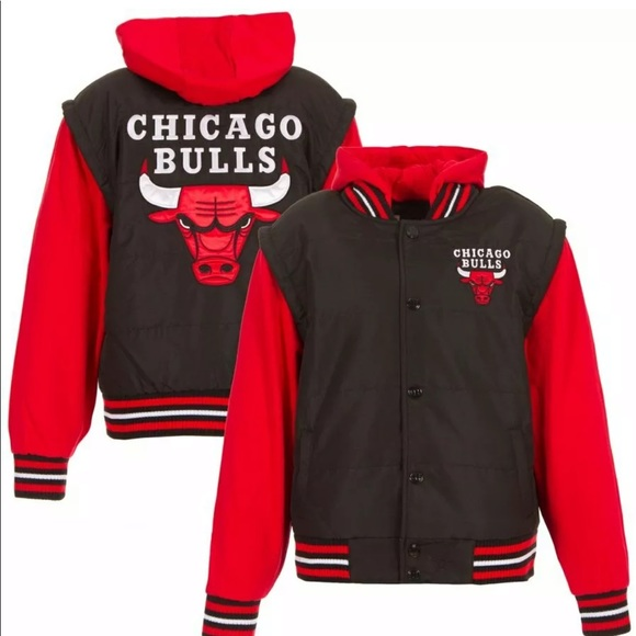 bfc6c153e Chicago Bulls Black Bomber Jacket Kids 11-12